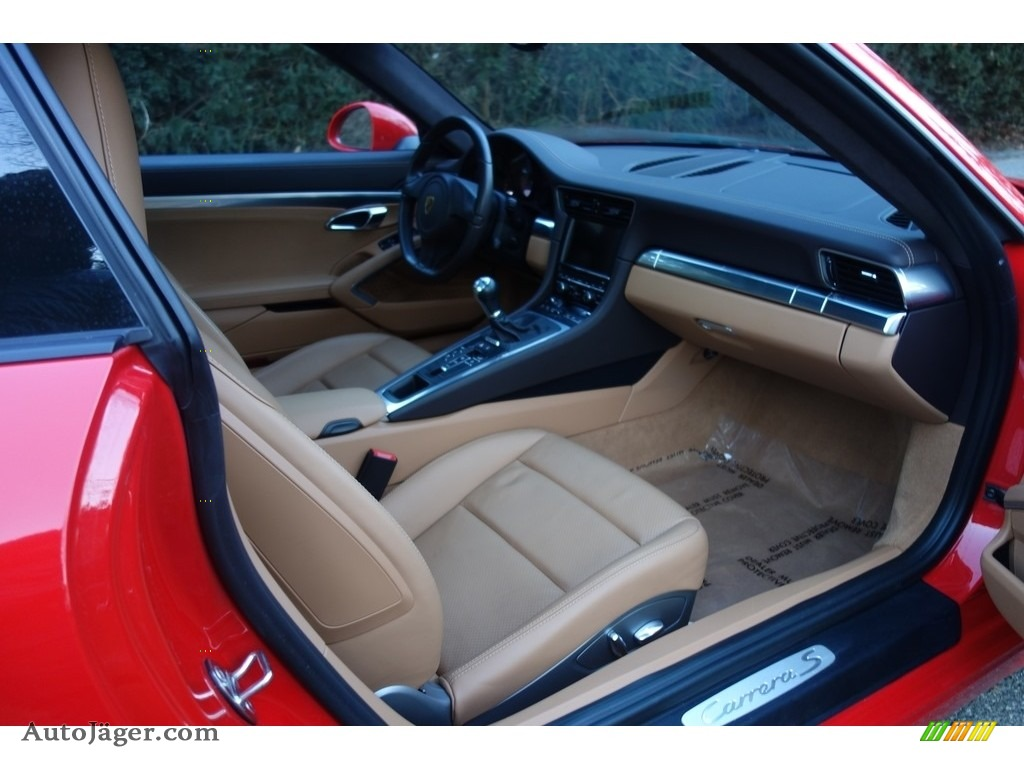 2016 911 Carrera S Coupe - Guards Red / Black/Luxor Beige photo #13