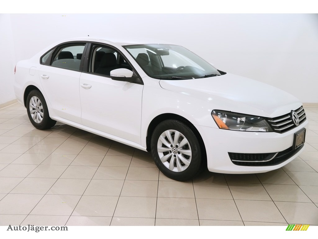 2013 Passat 2.5L S - Candy White / Titan Black photo #1