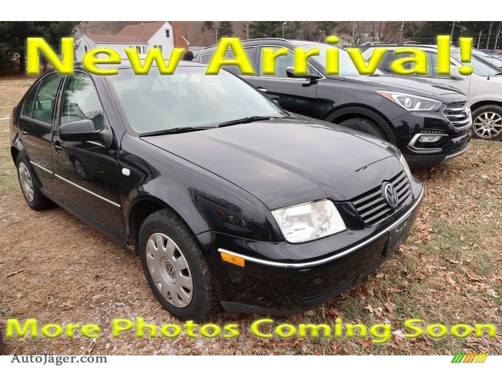 Black / Black Volkswagen Jetta GL Sedan