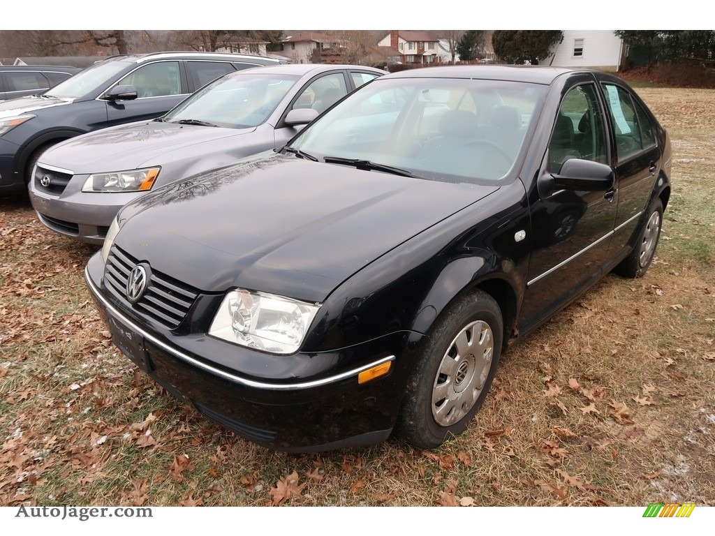 2004 Jetta GL Sedan - Black / Black photo #3