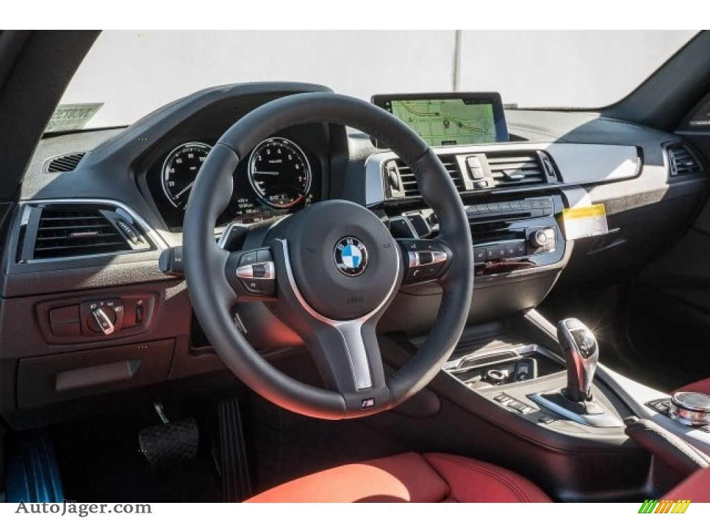 2018 2 Series M240i Coupe - Black Sapphire Metallic / Coral Red photo #3