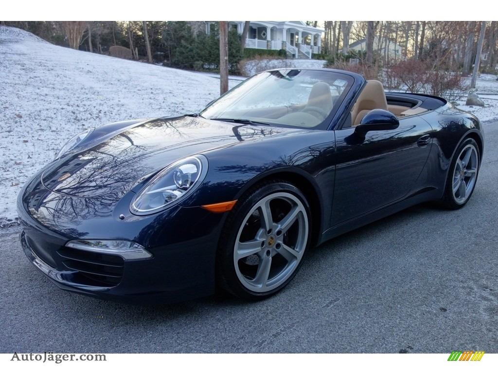 Dark Blue Metallic / Luxor Beige Porsche 911 Carrera Cabriolet