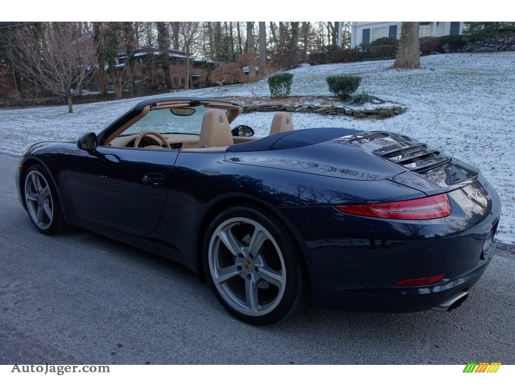 2015 911 Carrera Cabriolet - Dark Blue Metallic / Luxor Beige photo #4