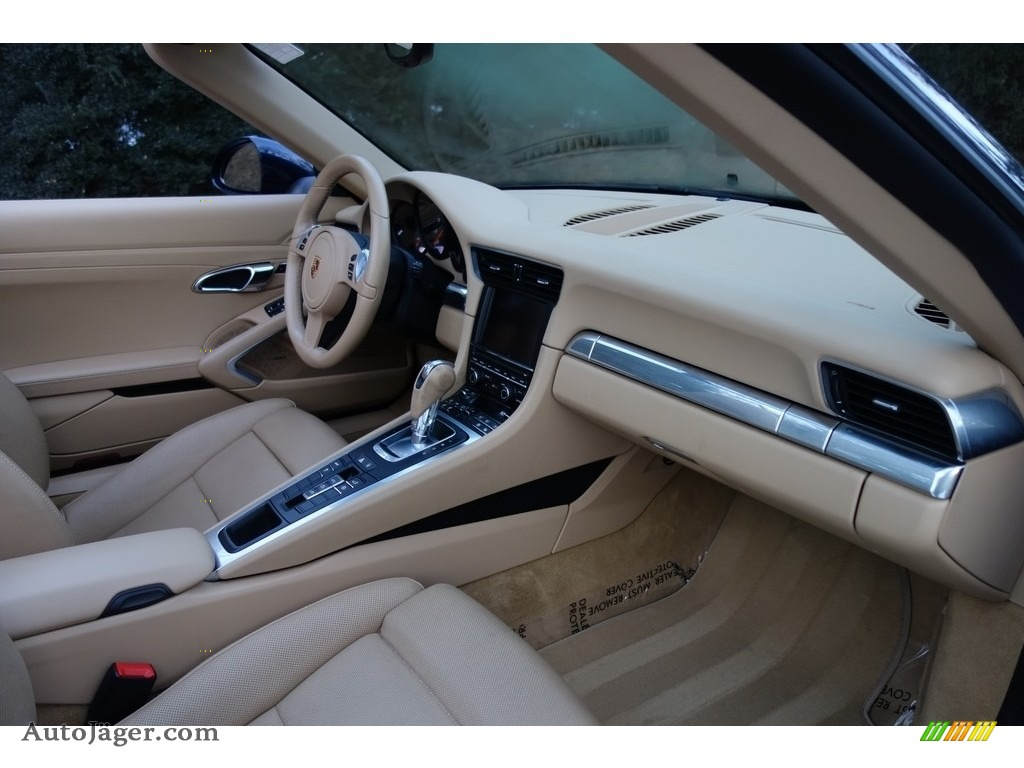 2015 911 Carrera Cabriolet - Dark Blue Metallic / Luxor Beige photo #16