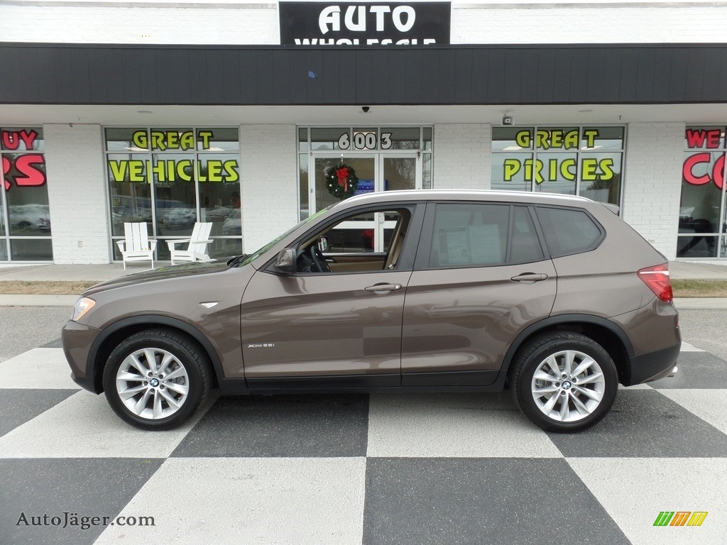 2014 X3 xDrive28i - Sparkling Bronze Metallic / Sand Beige photo #1