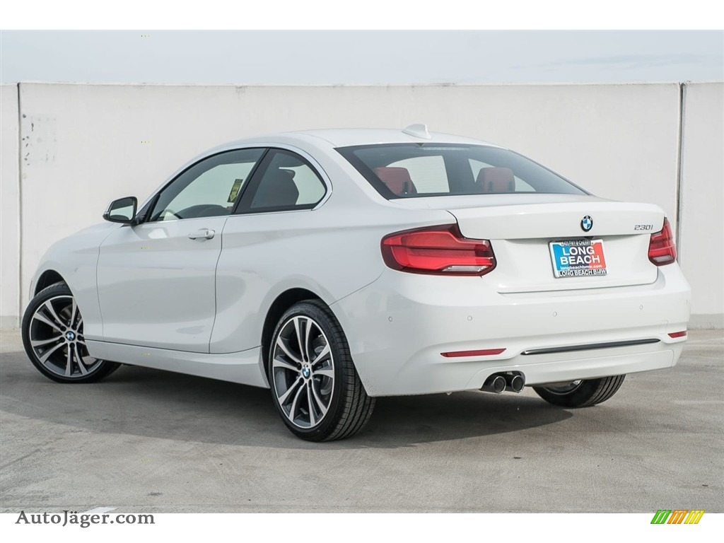 2018 2 Series 230i Coupe - Alpine White / Coral Red photo #3