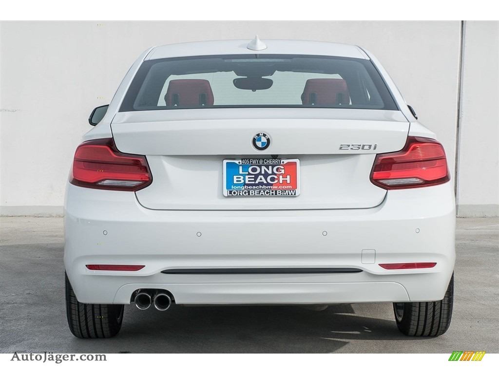 2018 2 Series 230i Coupe - Alpine White / Coral Red photo #4