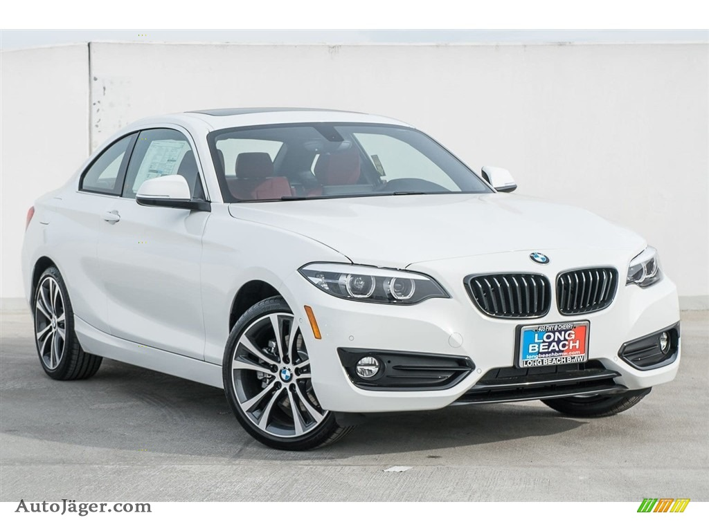 2018 2 Series 230i Coupe - Alpine White / Coral Red photo #12