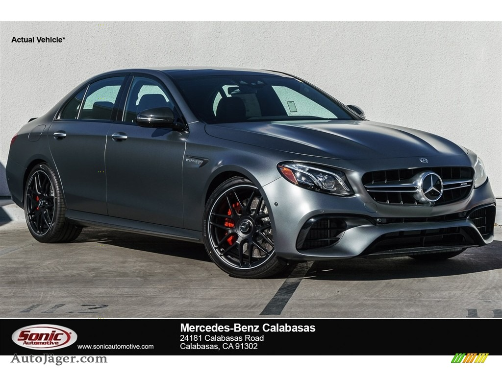 designo Selenite Grey Magno (Matte) / Nut Brown/Black Mercedes-Benz E AMG 63 S 4Matic