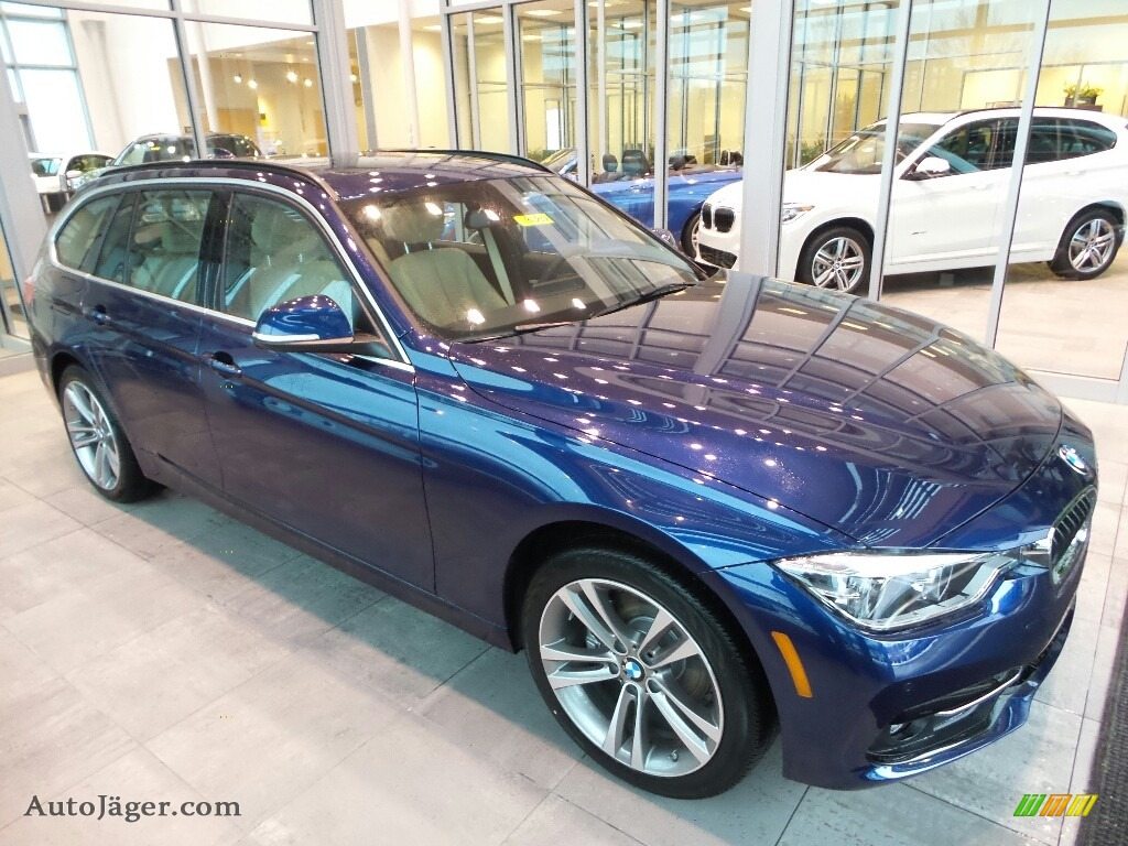 2018 3 Series 330i xDrive Sports Wagon - Mediterranean Blue Metallic / Venetian Beige photo #1