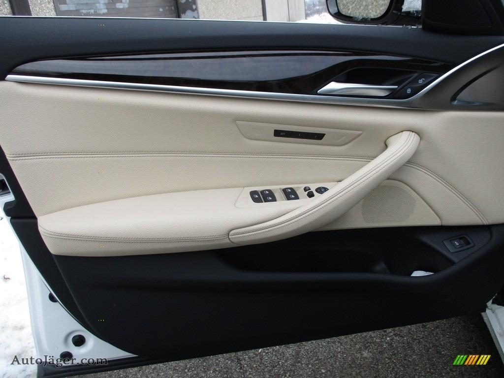 2018 5 Series 540i xDrive Sedan - Alpine White / Canberra Beige/Black photo #10