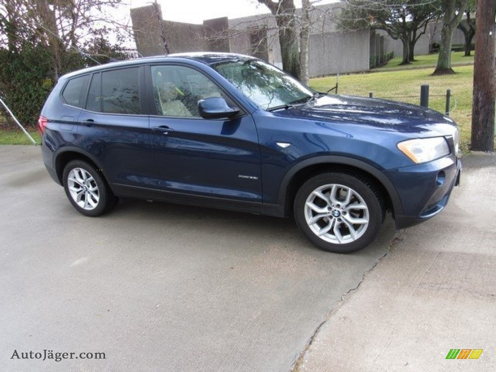 Deep Sea Blue Metallic / Sand Beige Nevada Leather BMW X3 xDrive 35i
