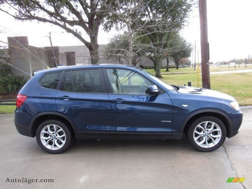 2011 X3 xDrive 35i - Deep Sea Blue Metallic / Sand Beige Nevada Leather photo #6