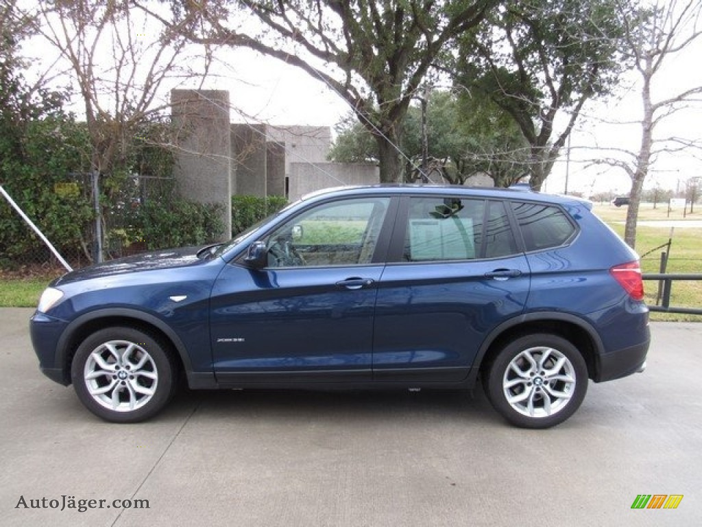 2011 X3 xDrive 35i - Deep Sea Blue Metallic / Sand Beige Nevada Leather photo #11