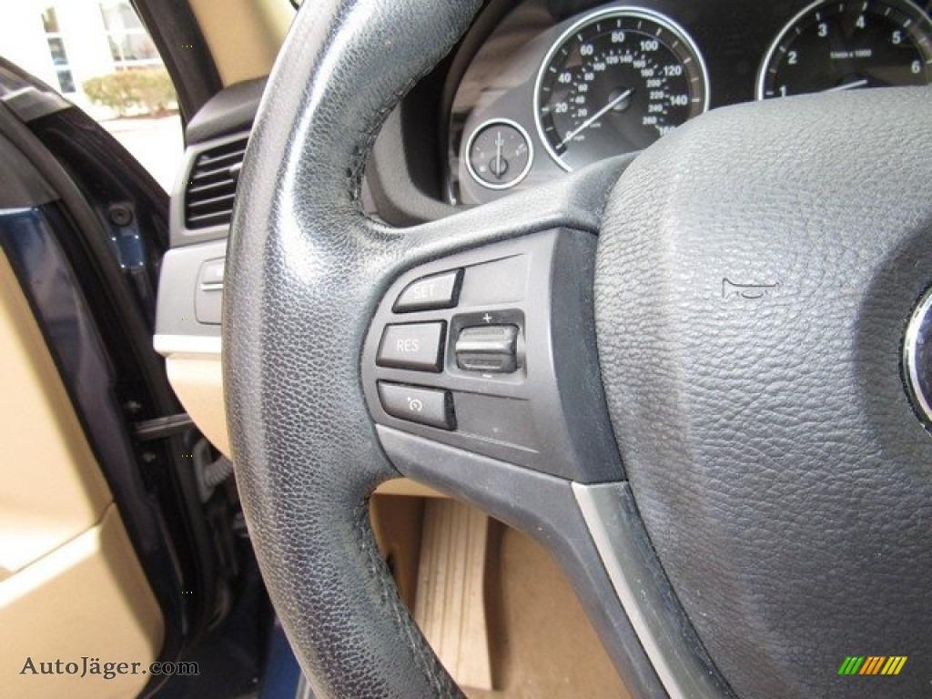 2011 X3 xDrive 35i - Deep Sea Blue Metallic / Sand Beige Nevada Leather photo #24