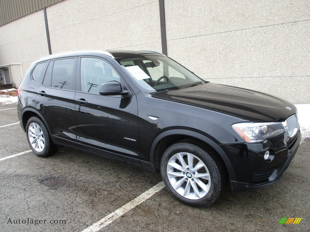 Jet Black / Black BMW X3 xDrive28i