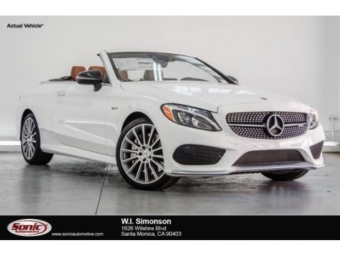 Polar White 2017 Mercedes-Benz C 43 AMG 4Matic Cabriolet