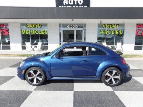 Reef Blue Metallic 2012 Volkswagen Beetle Turbo