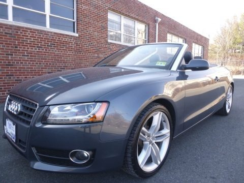 Meteor Grey Pearl Effect 2011 Audi A5 2.0T quattro Convertible