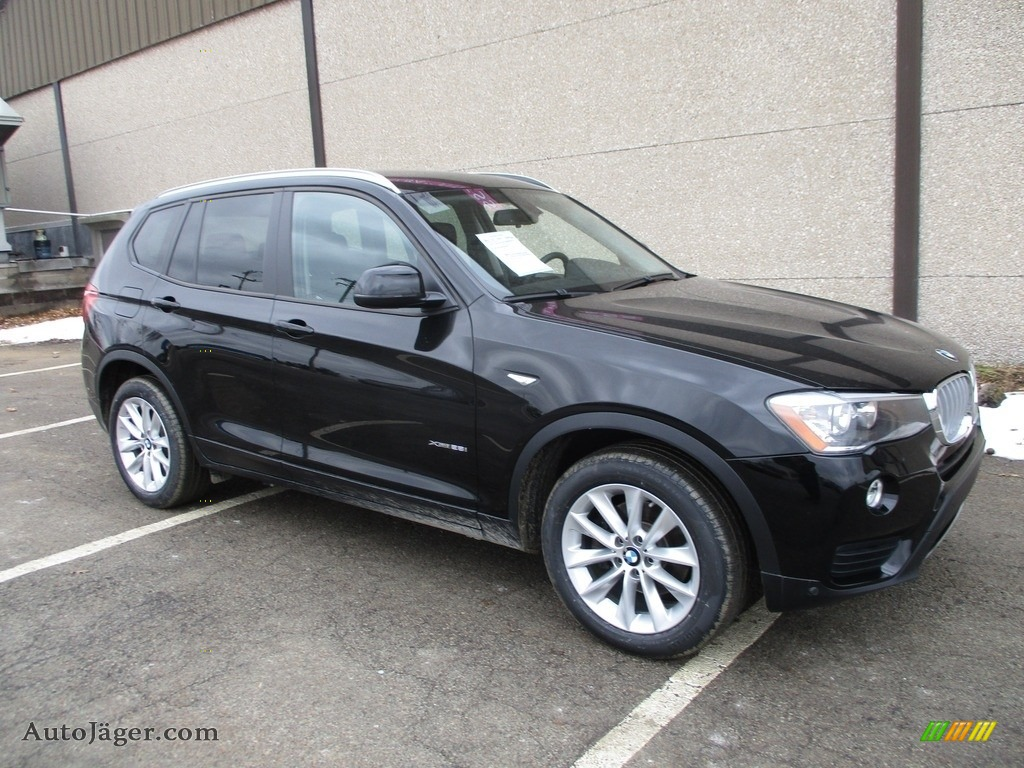 2016 X3 xDrive28i - Jet Black / Black photo #1
