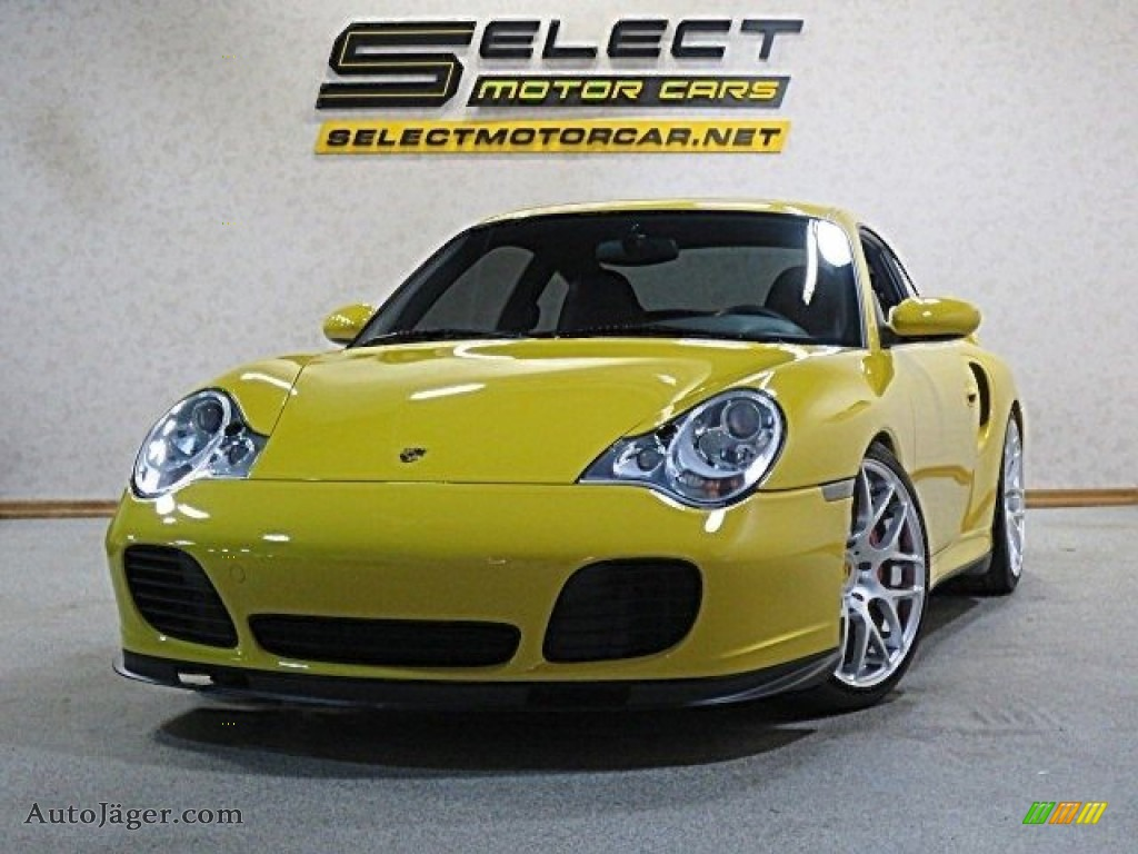 2002 911 Turbo Coupe - Speed Yellow / Black photo #1