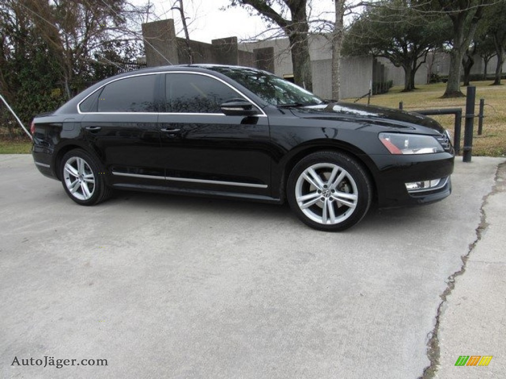 2012 Passat V6 SEL - Black / Titan Black photo #1