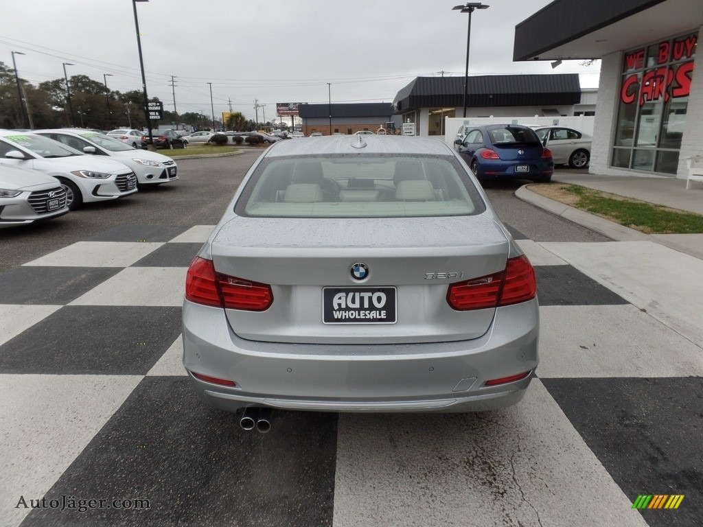 2012 3 Series 328i Sedan - Glacier Silver Metallic / Everest Grey/Black Highlight photo #4