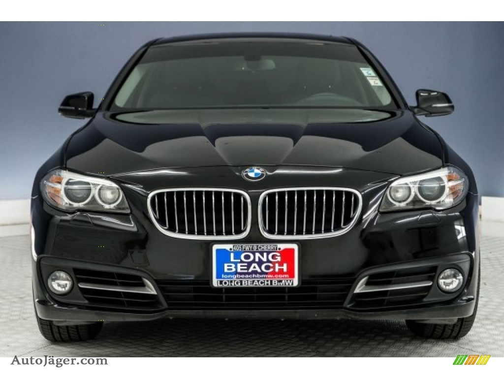 2015 5 Series 528i Sedan - Jet Black / Black photo #2