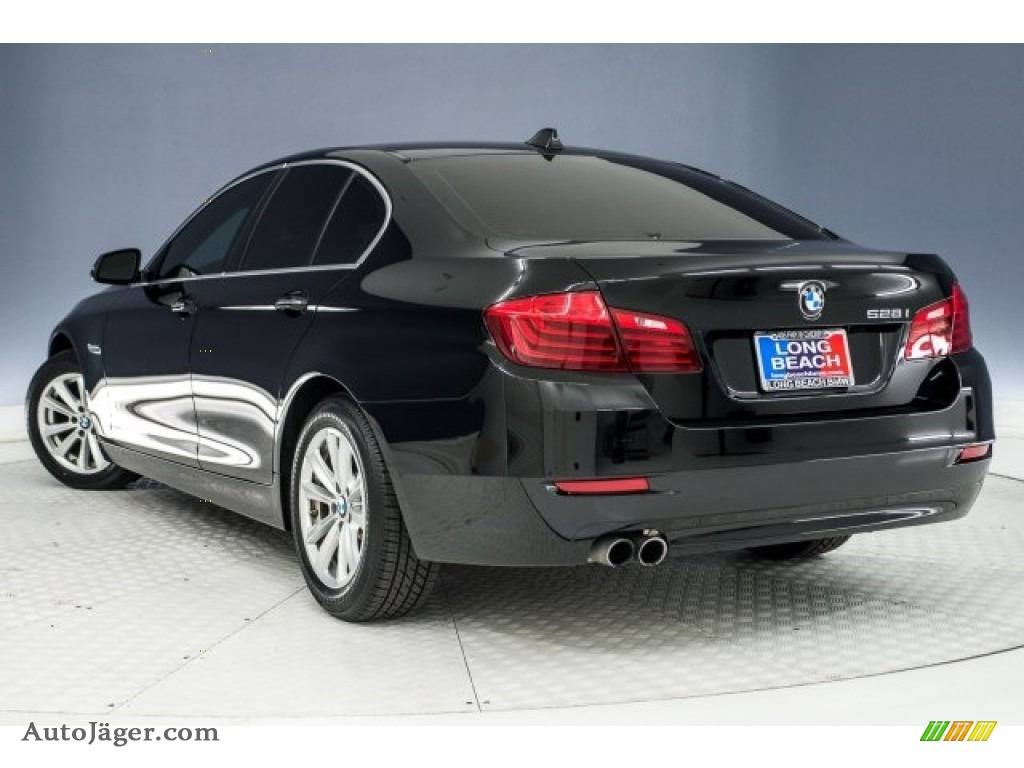 2015 5 Series 528i Sedan - Jet Black / Black photo #10