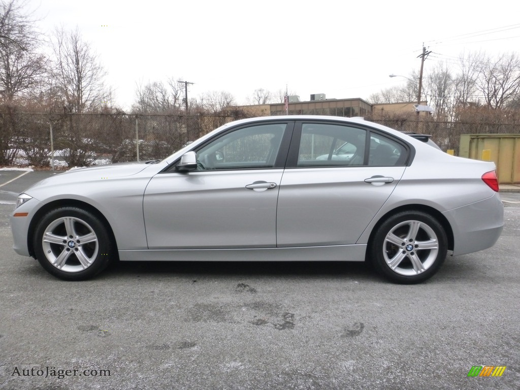 2013 3 Series 328i xDrive Sedan - Glacier Silver Metallic / Black photo #2