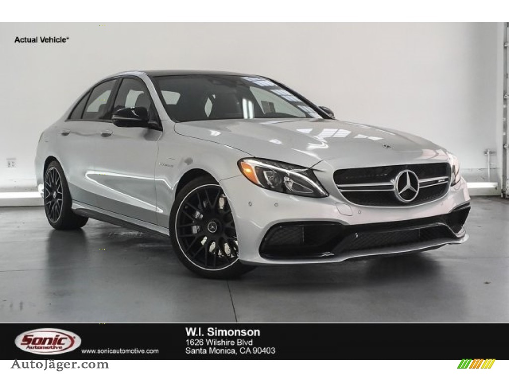 2018 C 63 AMG Sedan - Iridium Silver Metallic / Black photo #1