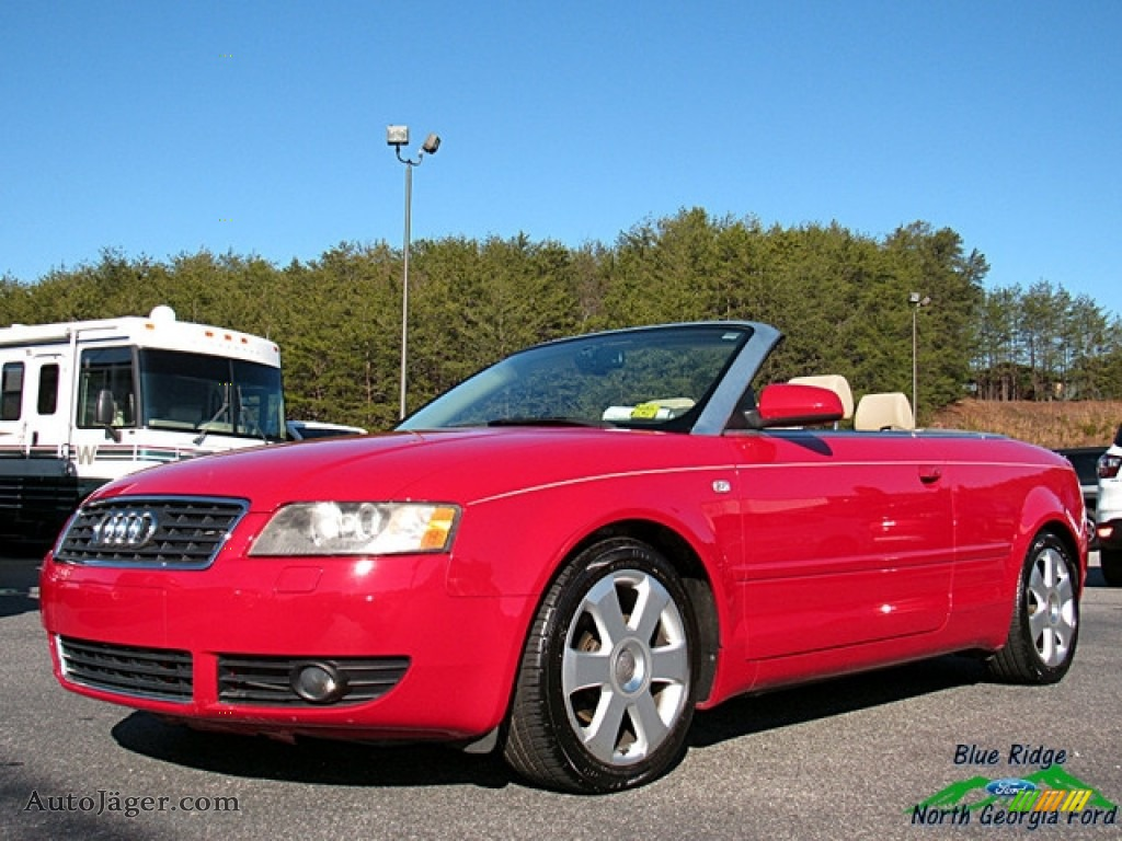 2006 A4 1.8T Cabriolet - Amulet Red / Beige photo #1