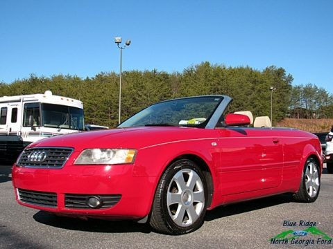 Amulet Red 2006 Audi A4 1.8T Cabriolet
