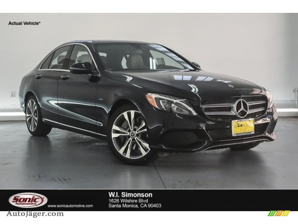 2018 C 350e Plug-in Hybrid Sedan - Black / Silk Beige/Black photo #1