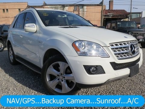 Arctic White 2010 Mercedes-Benz ML 350 BlueTEC 4Matic