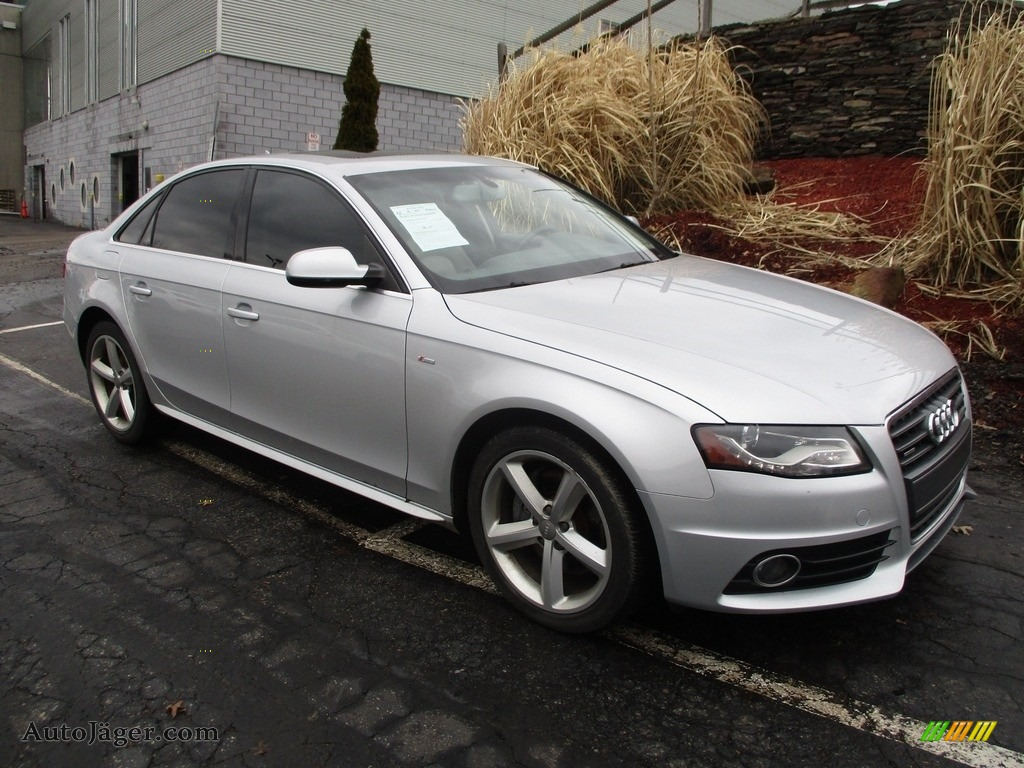 2012 A4 2.0T quattro Sedan - Ice Silver Metallic / Light Gray photo #1