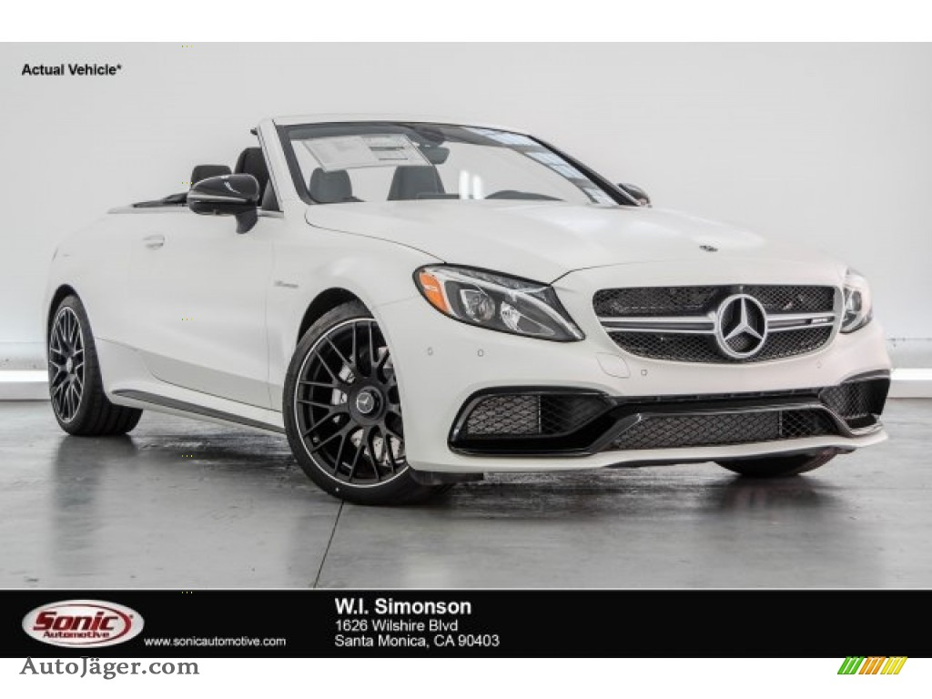 2018 C 63 AMG Cabriolet - designo Cashmere White Magno / Red Pepper/Black photo #1