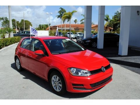 Tornado Red 2015 Volkswagen Golf 4 Door 1.8T S