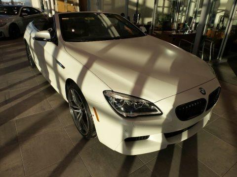 Frozen Brilliant White Metallic 2018 BMW 6 Series 650i xDrive Convertible