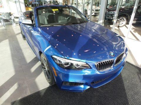 Estoril Blue Metallic 2018 BMW 2 Series M240i xDrive Convertible