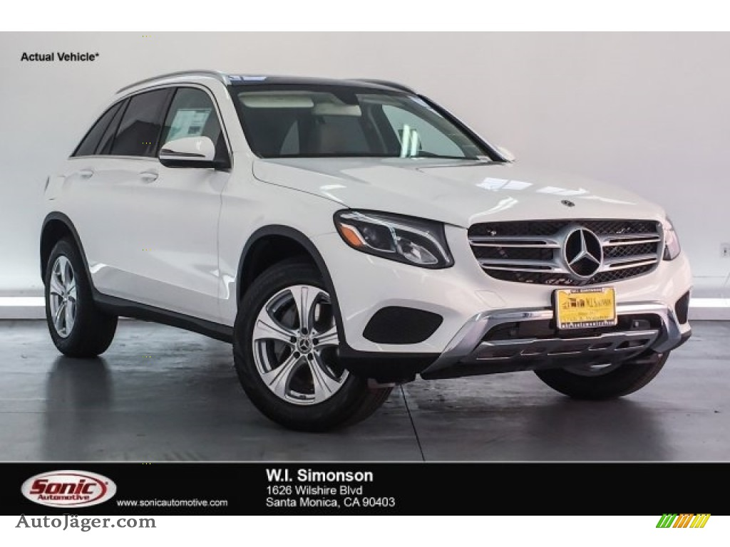 2018 GLC 300 4Matic - Polar White / Silk Beige/Espresso Brown photo #1