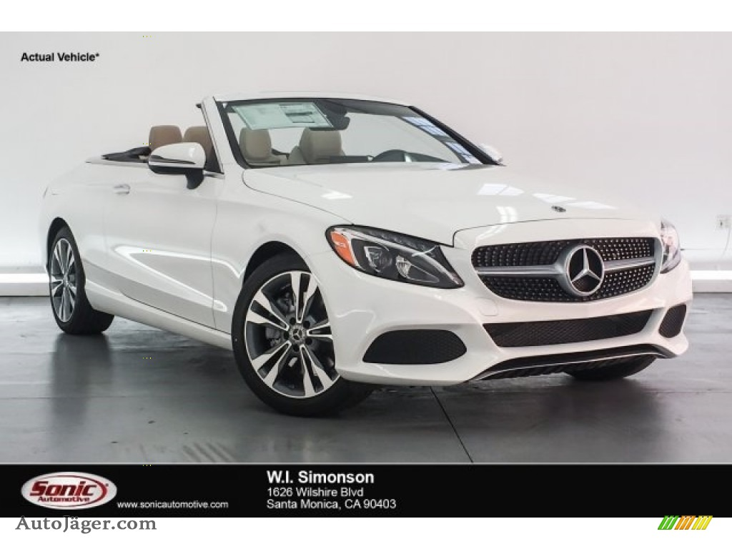 2018 C 300 Cabriolet - Polar White / Silk Beige/Black photo #1