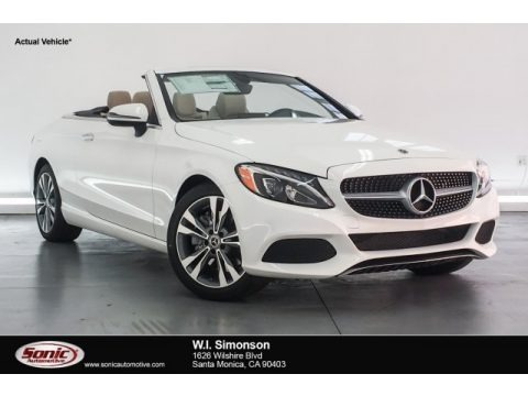 Polar White 2018 Mercedes-Benz C 300 Cabriolet