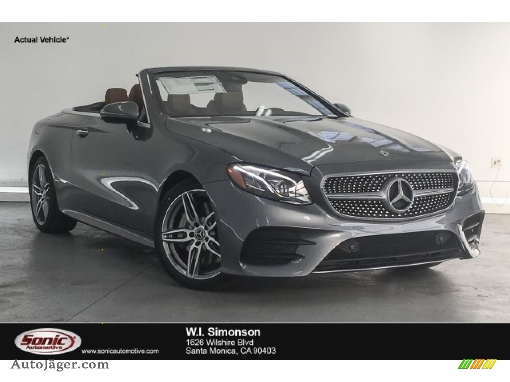 2018 E 400 Convertible - Selenite Grey Metallic / Saddle Brown/Black photo #1
