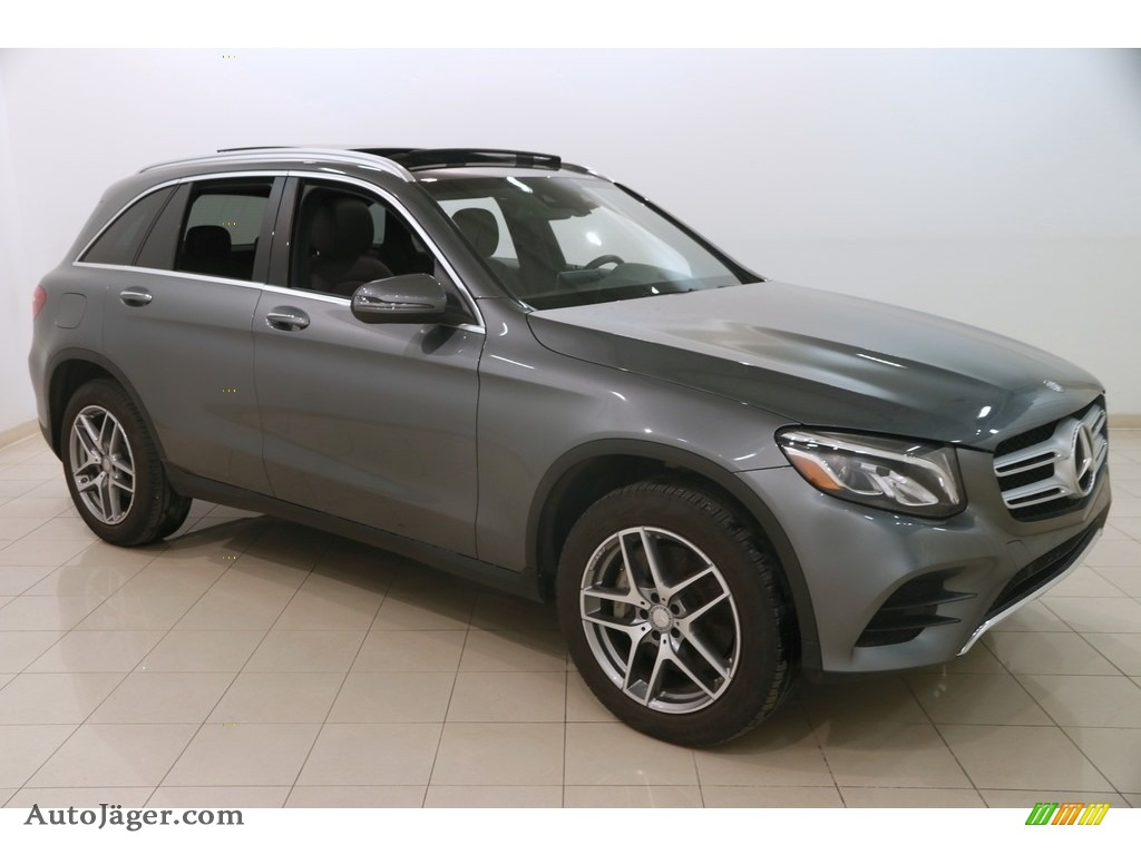2017 GLC 300 4Matic - Selenite Grey Metallic / Saddle Brown/Black photo #1