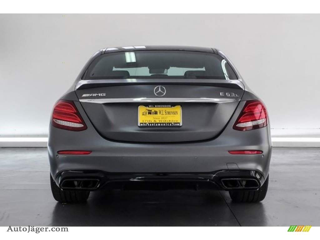 2018 E AMG 63 S 4Matic - designo Selenite Grey Magno (Matte) / Black photo #3