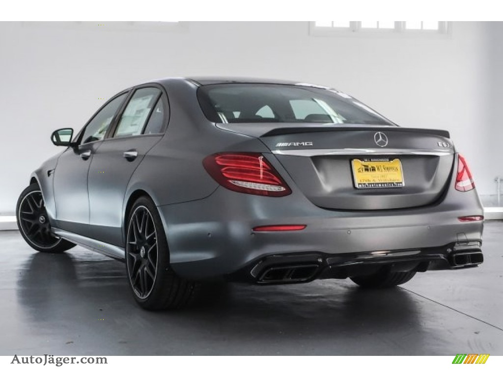 2018 E AMG 63 S 4Matic - designo Selenite Grey Magno (Matte) / Black photo #10