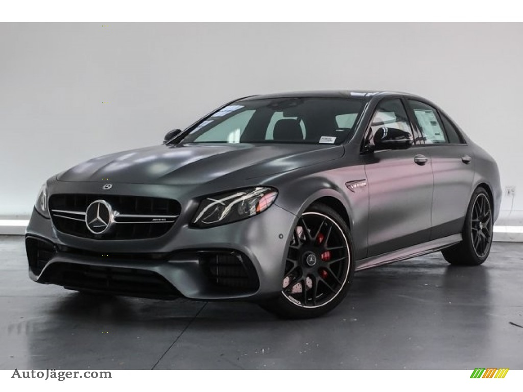 2018 E AMG 63 S 4Matic - designo Selenite Grey Magno (Matte) / Black photo #13