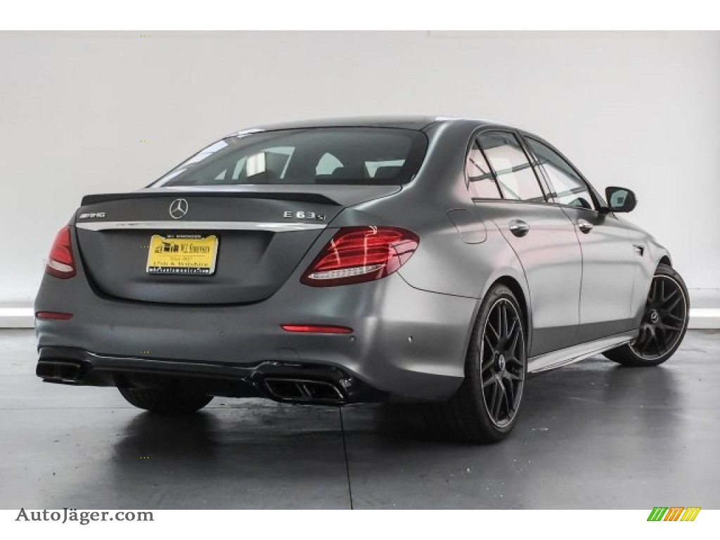 2018 E AMG 63 S 4Matic - designo Selenite Grey Magno (Matte) / Black photo #16