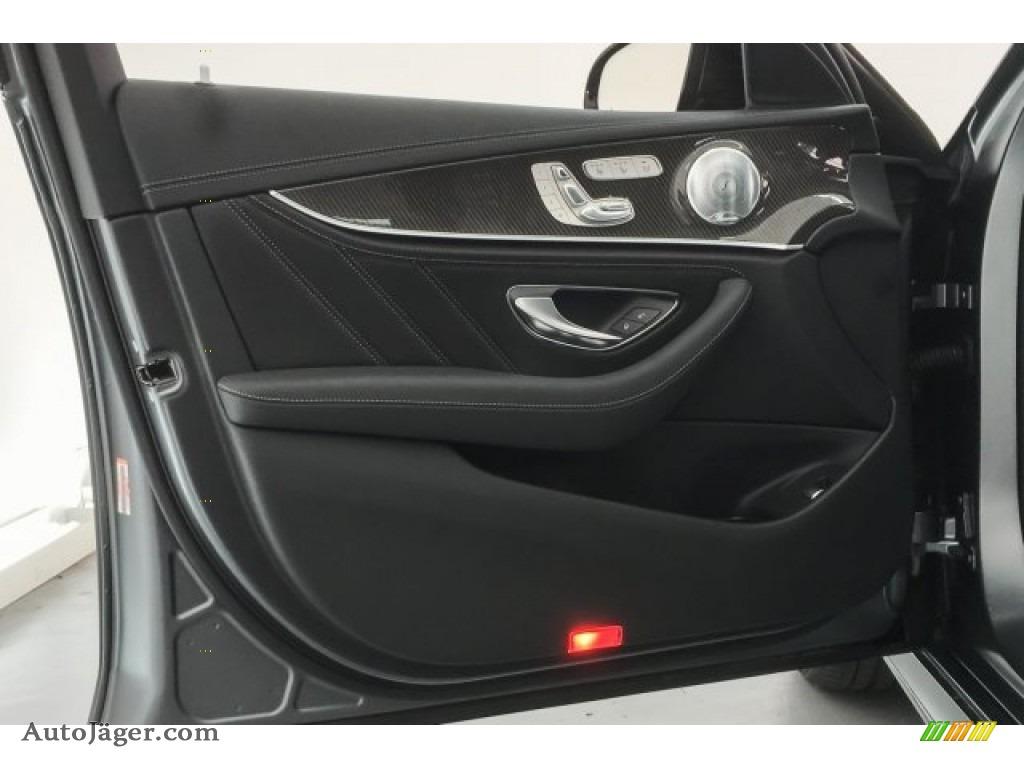 2018 E AMG 63 S 4Matic - designo Selenite Grey Magno (Matte) / Black photo #24